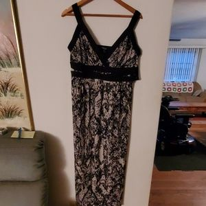 Style & Co NWT Black/White Sleeveless Dress - 0X